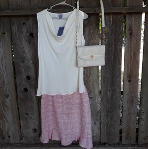 18W Pink apostrophe skirt